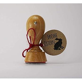 Frohe Ostern Stempel Stempel (rund) 40mm Durchmesser