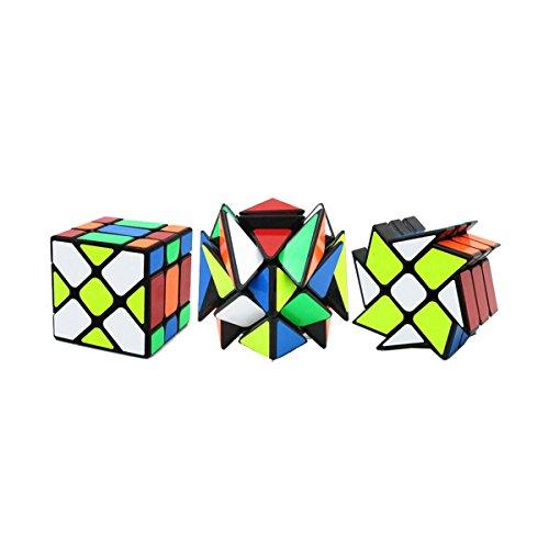 , YJ Fluktuationswinkel-Geschwindigkeits-Würfel September Verrücktes Fisher Würfel Zauberwürfel 3x3 -3x3 YJ Rad Puzzle Cube - 3x3 YJ-Platz König Puzzle-Würfel (Y-yj)