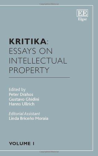 Kritika: Essays on Intellectual Property: Volume 1 by Professor Peter Drahos (2015-09-25)