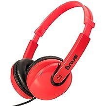 Snug Plug n Play Auriculares Infantiles para Niños Estilo DJ (Rojo)