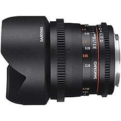Samyang 10mm T3.1 VDSLR ED AS NCS CS II Objectif Noir