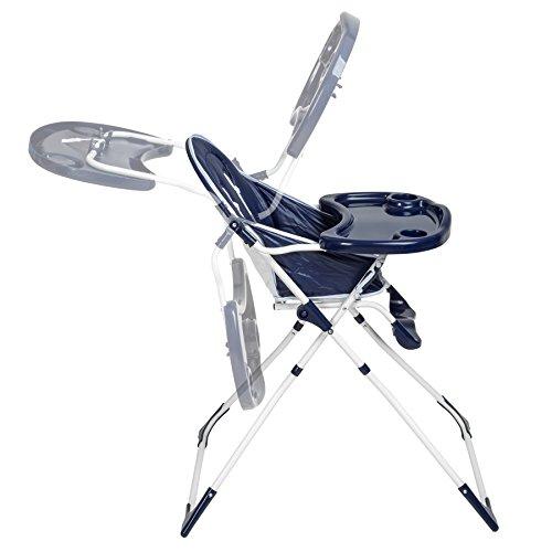 TecTake® Kinderhochstuhl Babyhochstuhl klappbar blau - 5
