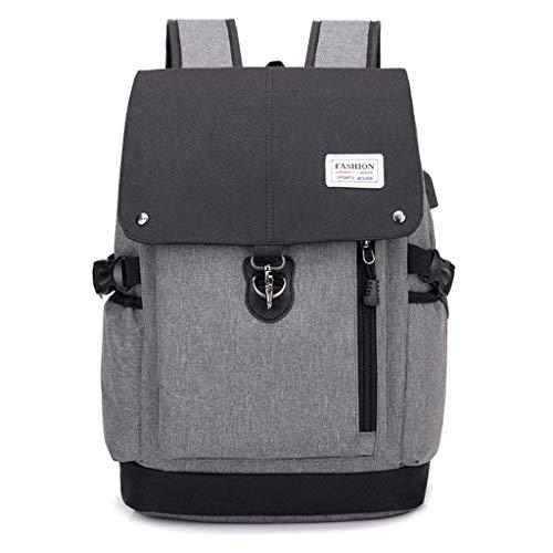 Zywtrade Travel Backpack mit Multi-Function Pockets, Stylish Anti-Theft School Bag mit USB Charging Port Fits 15,6 Inch Laptop Pack für Männer & Frauen (Grau),Black