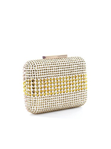 Clutch Pinko in raso con strass ANGERS ZZL ANGERS Gold