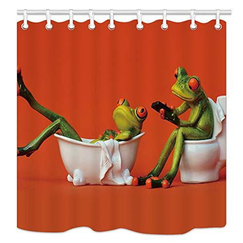 WC-das Mädchen Frosch in die Badewanne für Kinder Wasserdicht Duschvorhang, Polyester-175,3x 177,8cm-Fantastische Dekorationen Bad Vorhang Haken im Lieferumfang enthalten ()