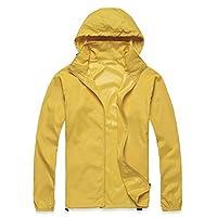 TOOGOO(R) Outdoor Unisex Cycling Running Waterproof Windproof Jacket Rain Coat -Yellow,M