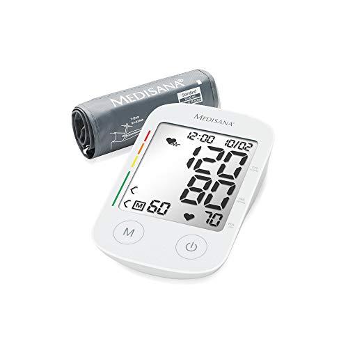chendes Oberarm-Blutdruckmessgerät mit Arrhythmie-Anzeige - WHO-Ampel-Farbskala - für eine präzise Blutdruckmessung und Pulsmessung mit Speicherfunktion - 51178 ()