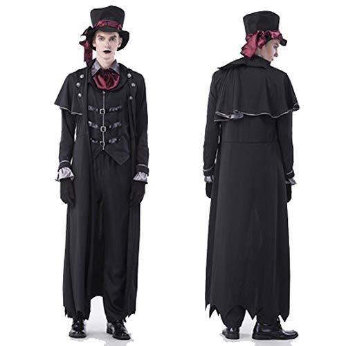 Erwachsene Tierarzt Für Kostüm - Herren Vampir GRAF, Halloween Kostüm, Maskerade Bühnenauftritt-3