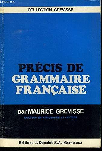 Précis de grammaire francaise