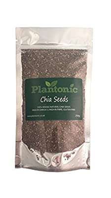 Chia Seeds 250g - Natural Raw Seeds, Omega 3, Weight Loss by Plantonic