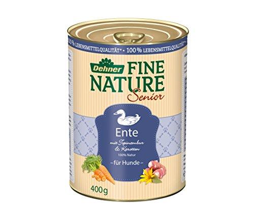Dehner Fine Nature Hundefutter, Senior Ente, Probiergröße, 400 g