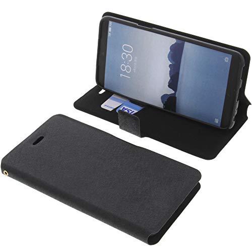 foto-kontor Tasche für Meizu 15 Book Style schwarz Schutz Hülle Buch