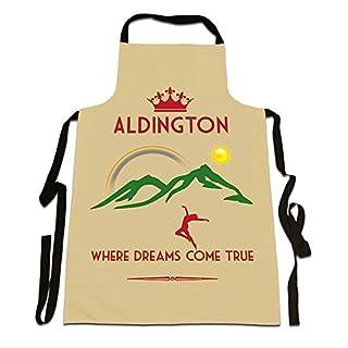 Aldington, Where Dreams Come True', UK City, Town, Village, Area Location, Funny Apron, Size 35in x 25in.
