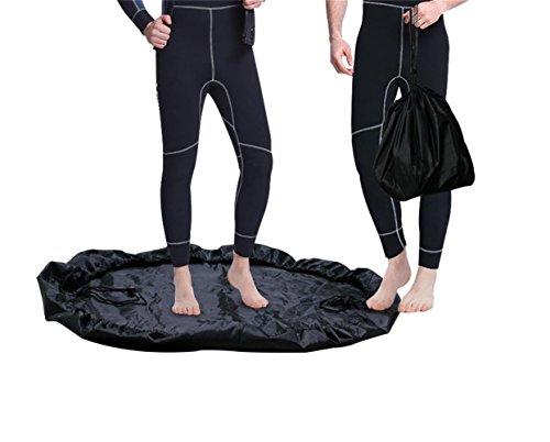 Golrisen Wetsuit Bag Neoprenanzug Tasche Wasserdichte Tasche 90cm Changing Mat für Wassersport, Schwimmen und Surfen im Sommer Schwarz