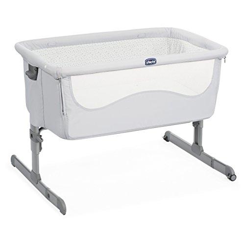 Chicco Next2me - Cuna de colecho con anclaje a cama y 6 alturas, color gris