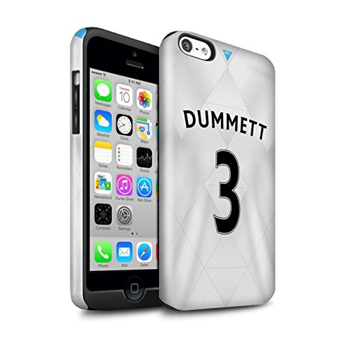 Offiziell Newcastle United FC Hülle / Glanz Harten Stoßfest Case für Apple iPhone 5C / Pack 29pcs Muster / NUFC Trikot Away 15/16 Kollektion Dummett