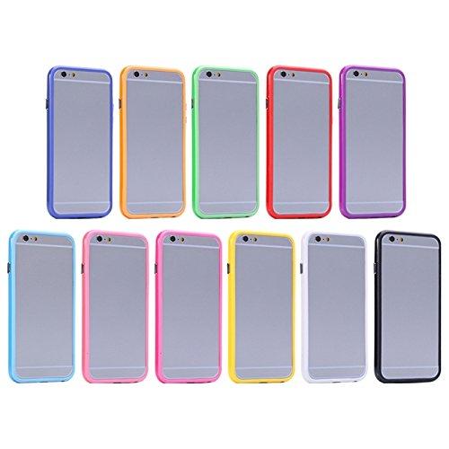 Wkae Case Cover reine farbe plastik + tpu stoßstange rahmen für iphone 6 plus &65 plus ( SKU : S-IP6P-0031R ) S-IP6P-0031F