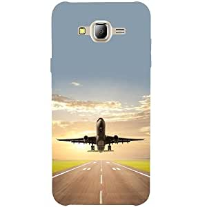 Casotec Airplane Design 3D Printed Back Case Cover for Samsung Galaxy J2 (2016)