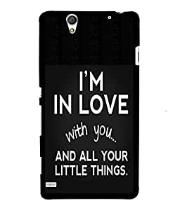 Fuson 2D Printed Quotes Designer back case cover for Sony Xperia C4 - D4579