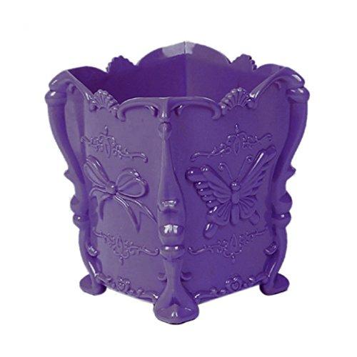 Sukisuki Papillon Motif Make Up support pour brosse Cosmétique Boîte de rangement Coque Stylo Organiseur Conteneur Home Decor, Plastique, violet, Taille unique