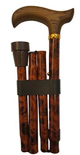 adjustable-folding-walking-stick-birds-eye-maple-pattern