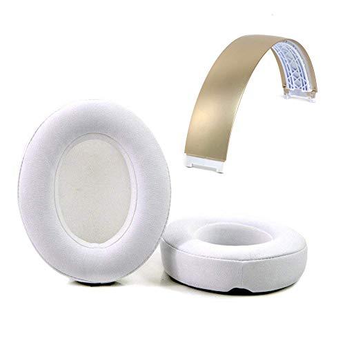 Reparatur-Set für Beats Studio 2.0 kabellose Kopfhörer, Hörmuscheln und Kopfbügel oben Gold Headband + White Cushion