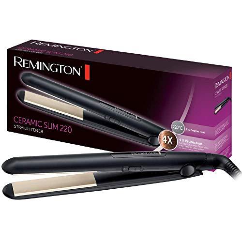 Remington Haarglätter Ceramic Slim S1510, antistatische Keramik-Turmalin-Beschichtung, schwarz - Pearl Remington Haarglätter