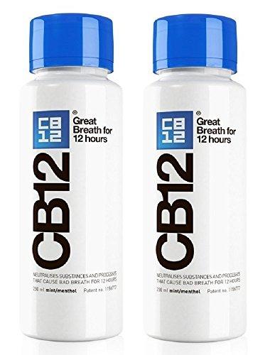 CB12 250ML 2 PACK Mint / Menthol Mouthwash...