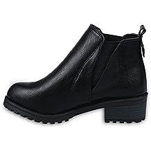 Ularma Mujeres Bajo de invierno zapatos de tacón botines (Elegir uno más grande)