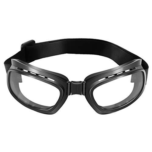 LouiseEvel215 Occhiali da Moto Pieghevoli Vintage Occhiali Antivento Occhiali da Sci Occhiali da Snowboard Occhiali da Corsa Antipolvere