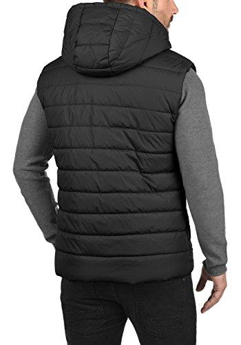 BLEND Nilo Herren Steppweste Weste mit Kapuze aus hochwertiger Materialqualität Black (70155)