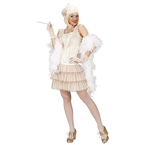 Charleston Kostüm 20er Jahre Kleid S 34/36 Charlestonkleid weiß 30er Jahre Accessoires Flapper Damenkostüm Elegant Flapperkleid 20s Karnevalskostüme Damen Sexy