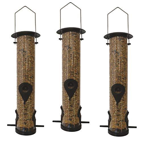 Heritage Pet Products 50160 – 3 luxuriöse Vogelfutterstationen zum Aufhängen im Garten, für Wildvögel, 13x39cm