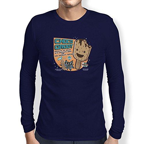 TEXLAB - Choco Groot Ice Cream - Herren Langarm T-Shirt Navy