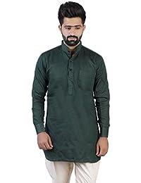 Veera Paridhaan Casual Men's Cotton Plain Full Sleeve Kurta