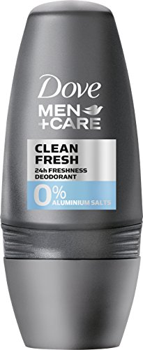 Dove Men+Care Deo Roll-On Clean Fresh ohne Aluminium, 6er Pack (6 x 50 ml)