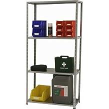 Estanteria metalica ar storage 150x75x30 cm 4 estantes 40 kg por estante color galvanizado.
