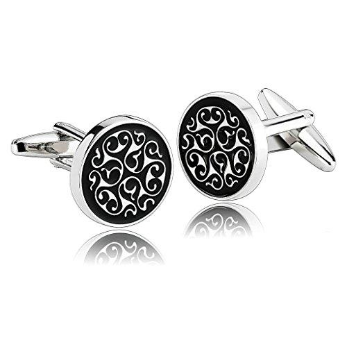 epinki-men-stainless-steel-engraved-clouds-flower-shirt-silver-black-stylish-modern-cufflinks
