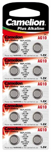 AGI Alkaline Knopfzelle CAMELION AG10/LR54/LR1131/389 Original