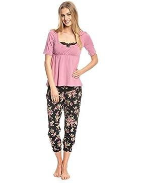 Vive Maria Damen Zweiteiliger Schlafanzug Bouquet D'Amour Pyjama