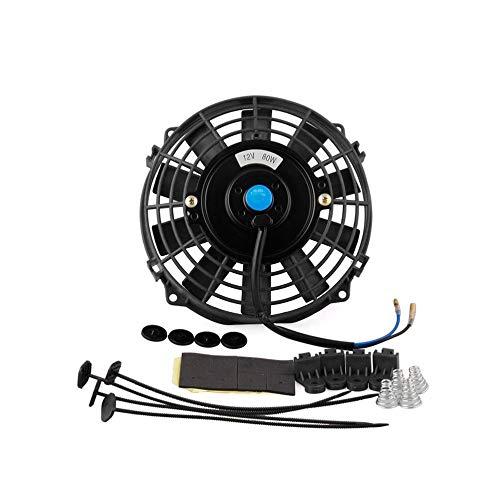 Ventilatore termoelettrico di raffreddamento del radiatore ultrasottile da 7 pollici da 12 pollici e kit di montaggio Ventilatore per serbatoio acqua per auto Ventilatore per raffreddamento auto