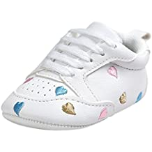 Zapatos Bebe Primeros Pasos, niña niño Bordado del bebé Amor Forma Vendaje Suela