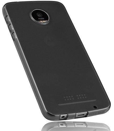 mumbi Schutzhülle für Lenovo Moto Z Play Hülle transparent schwarz