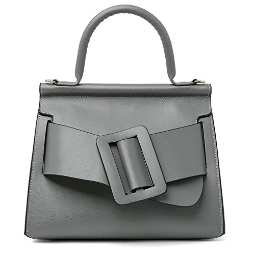 Mefly Neue Mode Damen Handtasche Modische Leder gray