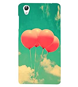 Fuson Designer Back Case Cover for Vivo Y51 :: VivoY51L (Balloons Pink Ballons Balloons In Air Clear Sky Blue Sky)
