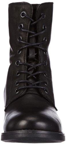 Pieces Ibi Leather, Boots femme Noir (Black)