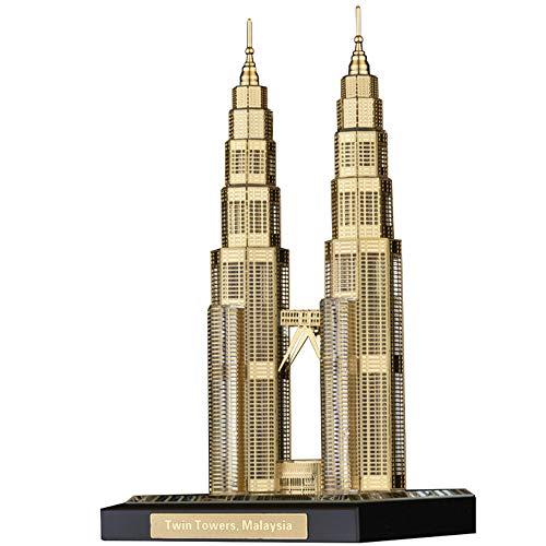 ZZKJXHJ Wahrzeichen Architekturmodell Ornamente, Twin Towers Crystal Architekturmodell, Tourist Souvenir Dekoration, Handwerk Geschenke, Inneneinrichtung