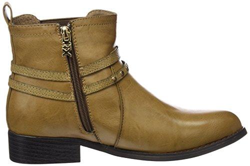 XTI Damen 46187 Biker Boots, Beige (Taupe), 36 EU
