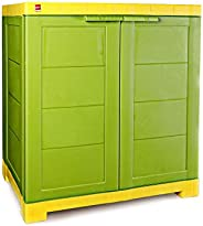 Cello-CLO_WIM_NOVCOMP_GRYEL Novelty Compact Storage Cupboard (Green and Yellow)