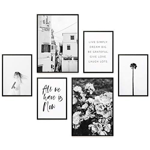 Heimlich® Premium Poster Set | Stilvoller Mix an passenden Bildern für Dein Zuhause | ohne Rahmen » All WE Have is Now « - Schlafzimmer Set Für